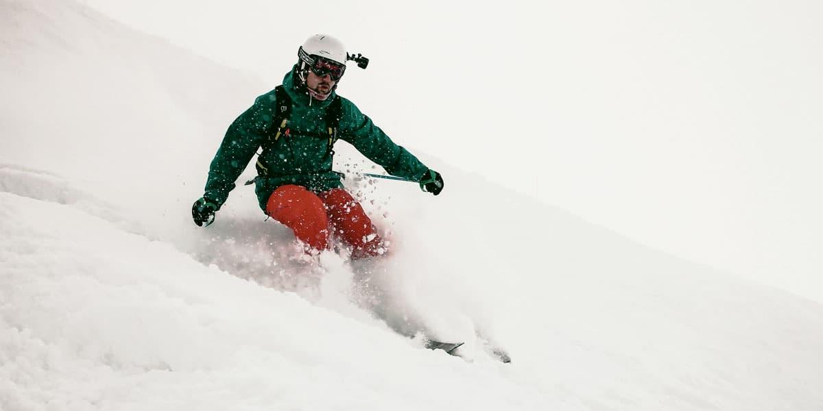 camara deportiva esqui
